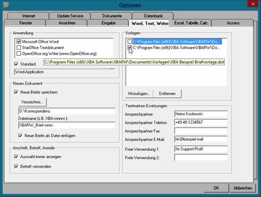 Briefvorlagen Nutzen Xba Software Ag
