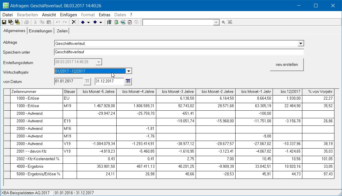 Abfragen nutzen und definieren – XBA Software AG